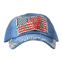 AMERICAN FLAG DENIM HAT