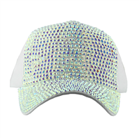 BEDAZZLED HAT | WHITE