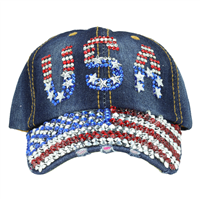 USA FLAG DENIM HAT