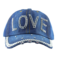 LOVE HAT | DISTRESSED DENIM