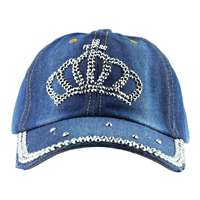 QUEEN CROWN HAT | DISTRESSED DENIM
