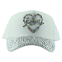 LOVE HEART HAT | WHITE