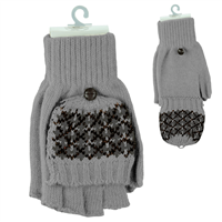 POP-TOP MITTEN GLOVES | GREY