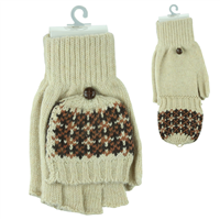 POP-TOP MITTEN GLOVES | IVORY