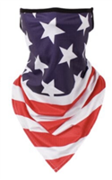 Bandana Cloth Face Mask USA Flag Print