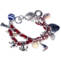 Anchor Nautical Chained Bracelet