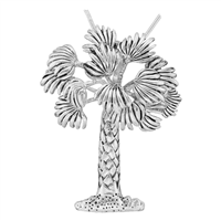 Seasonal Silver Palm Tree Fashion Pin Brooch Pendant Charm