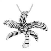 Seasonal Silver Small Coconut Palm Tree Fashion Pin Brooch Pendant Charm