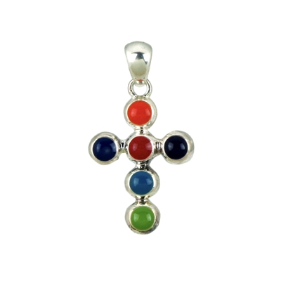 Color Bubble Cross Pendant