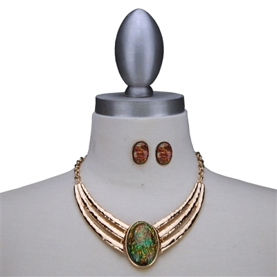 Colored Stone Necklace Set