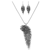 Elegant Crystal Moveable Porcupine Drop Necklace Set