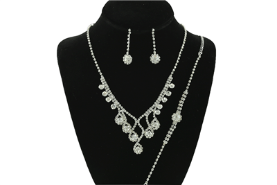 CRYSTAL BRACELET & NECKLACE SET