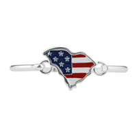 Patriotic South Carolina Flag Bracelet
