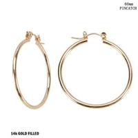 60MM STATEMENT HOOP EARRINGS | GOLD