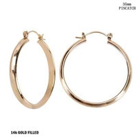 35MM STATEMENT HOOP EARRINGS | GOLD