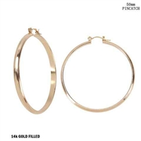 50MM STATEMENT HOOP EARRINGS | GOLD