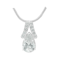 Gorgeous Sparkling Silver & Clear Crystal Cubic Zirconia Sterling Silver Regal Pendant Charm