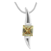 Gorgeous Sparkling Silver & Topaz Crystal Cubic Zirconia Sterling Silver Czar Pendant Charm