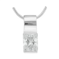 Gorgeous Sparkling Silver & Clear Crystal Cubic Zirconia Sterling Silver Empress Pendant Charm