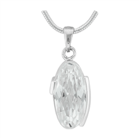 Gorgeous Sparkling Silver & Clear Crystal Cubic Zirconia Sterling Silver Royalty Pendant Charm