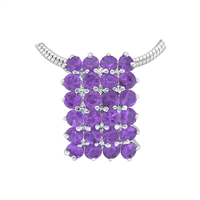 Gorgeous Sparkling Silver & Amethyst Crystal Cubic Zirconia Sterling Silver Empire Pendant Charm
