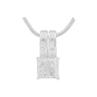 Gorgeous Sparkling Silver & Clear Crystal Cubic Zirconia Sterling Silver Regent Pendant Charm