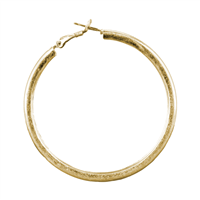Stylish Large Matte Gold Hoop Earrings