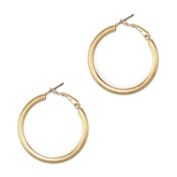 Stylish Small Matte Gold Hoop Earrings