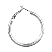 SMOOTH SILVER HOOP EARRINGS | SMALL
