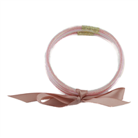 PINK GLITTER FILLED SILICON JELLY BRACELET