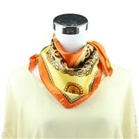 Orange Buckle Printed Silk Neckerchief