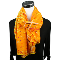 STARBURST PRINT SCARF | ORANGE