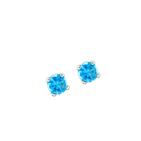 December Birth Stone Sparkling Turquoise Crystal Stud Earrings
