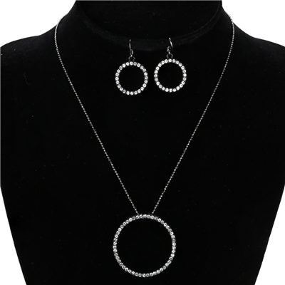 CRYSTAL CIRCLE NECKLACE SET | MEDIUM
