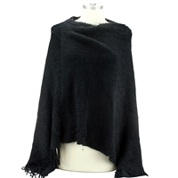 Black Fashion Poncho