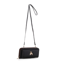 Women's Black Crossbody Wallet