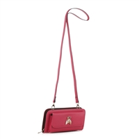 Women's Fuchsia Crossbody Wallet