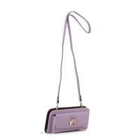 Women's Light Lavender Crossbody Wallet