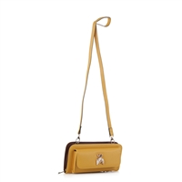 Women's Mustard Yellow Crossbody Wallet