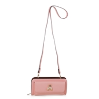 Women's Pink Crossbody Wallet