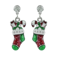 THE CRYSTAL STOCKING POST EARRINGS