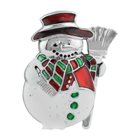 THE SPARKLING SNOWMAN PIN BROOCH