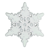 THE SPARKLING SNOWFLAKE PIN BROOCH