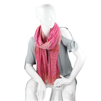 Fashionable Stylish Multi-Patterned Coral Fringed Scarf