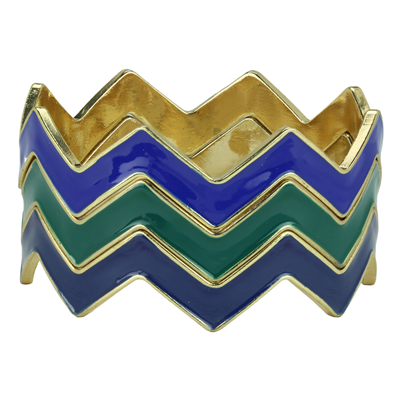 CHEVRON BRACELET | BLUE & GREEN
