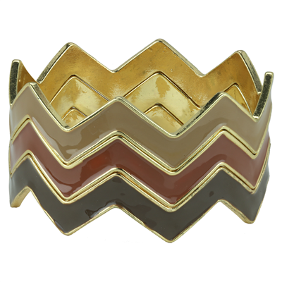 CHEVRON BRACELET | BROWN MIX