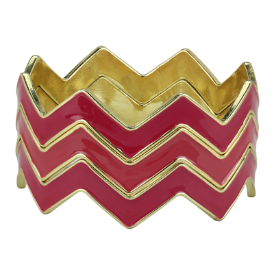 CHEVRON BRACELET | WINE & RED