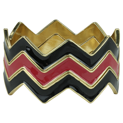 CHEVRON BRACELET | BLACK & RED