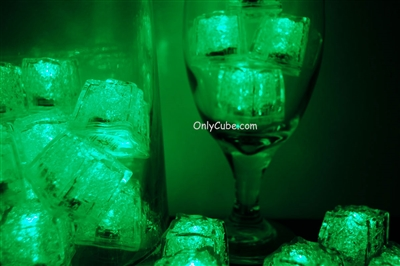 Emerald Green Jewel LiteCubes Light Up Ice Cubes