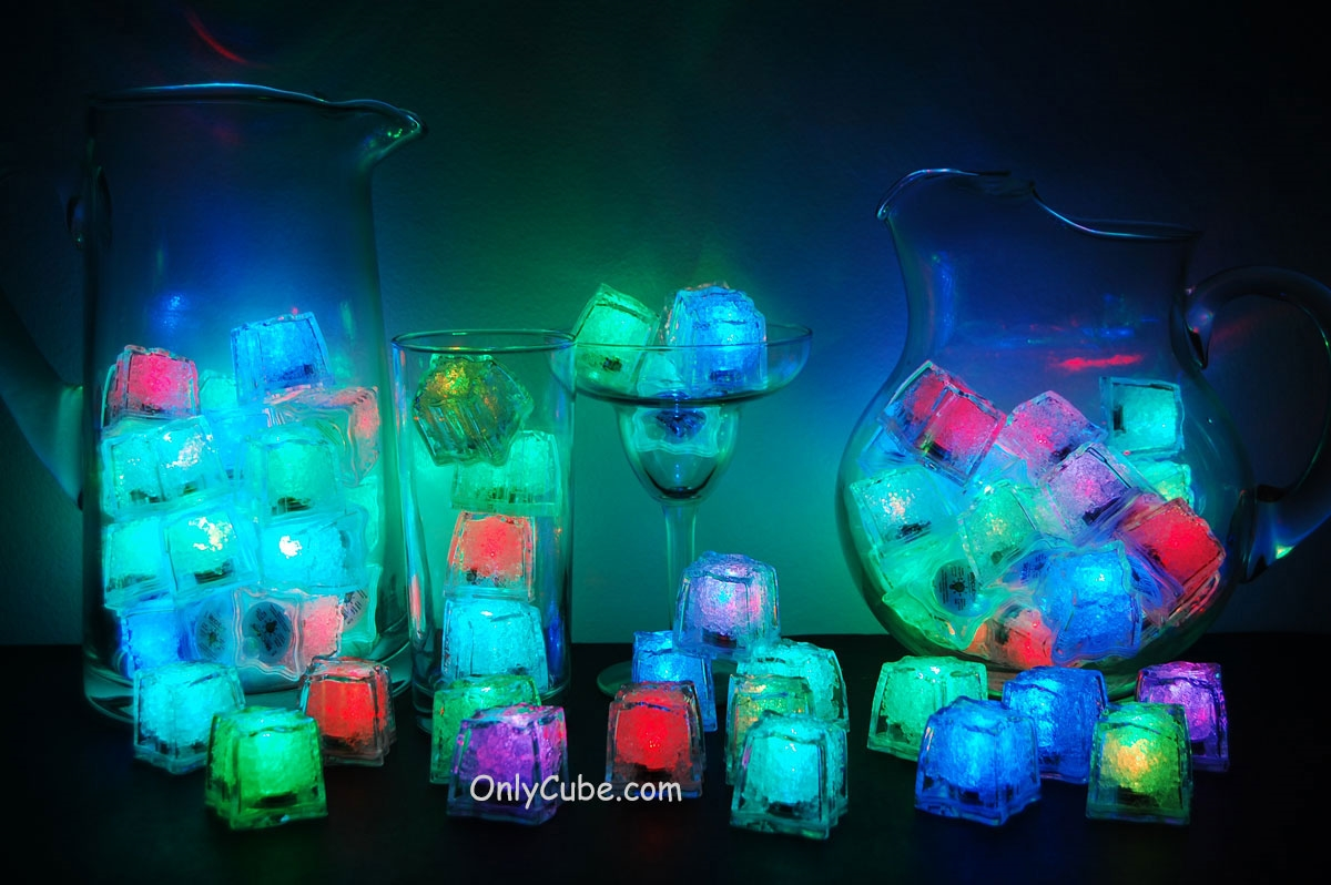 Rainbow LiteCubes 8 Mode Light Up Ice Cubes & Box-Fast